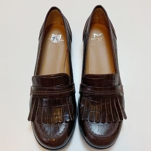 Marc Fisher Brown Royer Kiltie Loafers 7.5